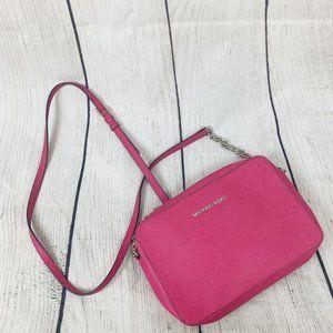 Michael Kors Hot Pink JetSet Travel Crossbody Bag